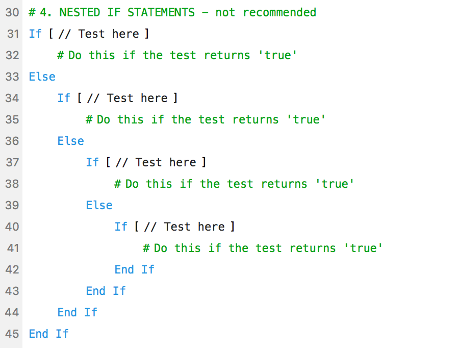 Nested if statements