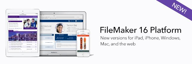 FileMaker 16 banner