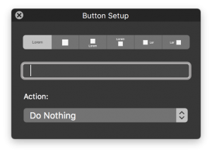 button setup