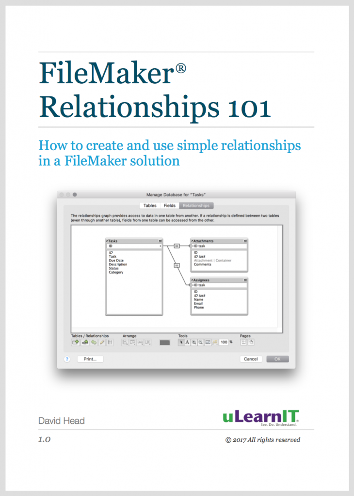 eBook FileMaker Relationships 101