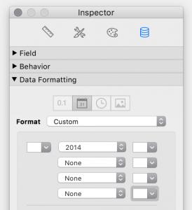 inspector custom date year