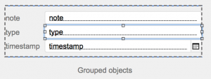 selected object in group